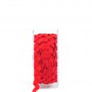 Rickrack, width 7mm, 10m, red